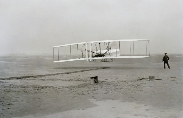 Wright Brothers photo for article by Carl Buhler