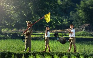 Boy Scouts for Carl Buhler article